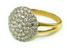 Köves bicolor arany eljegyzési gyűrű