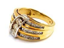 Gyémánt köves bicolor arany gyűrű