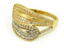 Köves bicolor női arany gyűrű