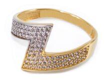 Köves fantázia bicolor arany gyűrű