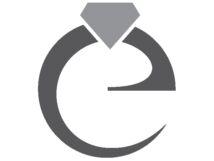 Zafír és gyémánt köves arany kitűző