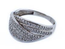Fehérarany cirkónia köves női gyűrű
