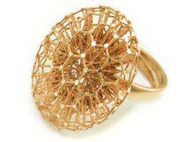 Exkluzív hálós női ezüst gyűrű