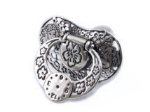 Áttört antikolt ezüst cumi