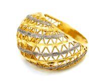 Áttört bicolor női arany gyűrű