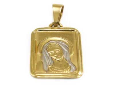 """Bicolor fényes és matt """"Mária"""" arany medál"""