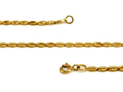 Lemezelt női arany nyaklánc