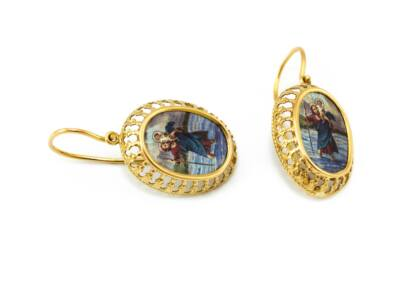 Szent Kristóf galériás arany fülbevaló