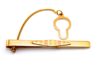 Tricolor arany nyakkendőtű