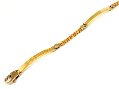 Bicolor lapbetétes arany karlánc