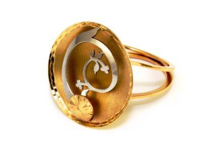 Fantázia bicolor arany gyűrű