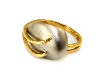 Matt leveles bicolor arany gyűrű