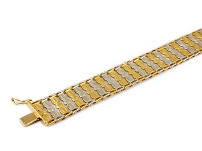 Bicolor lemezelt széles arany karlánc