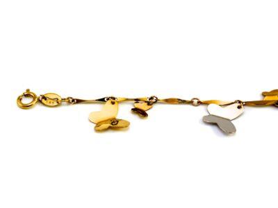 Pillangós arany gyermek bokalánc