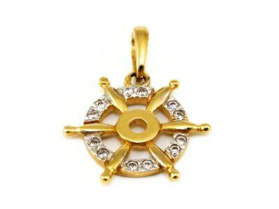 Köves hajókerék arany medál