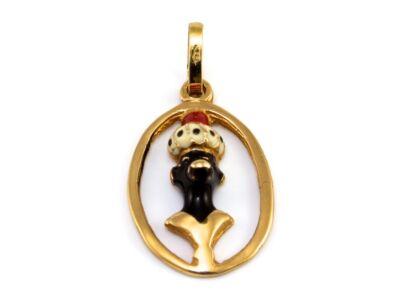 Zománcos arany medál