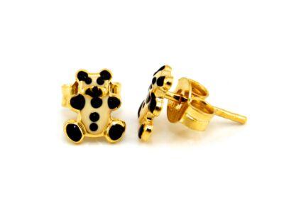 Pandamaci bébi arany fülbevaló