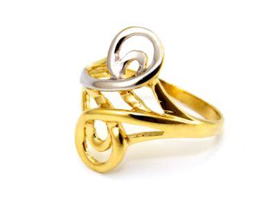Női fantázia bicolor arany gyűrű