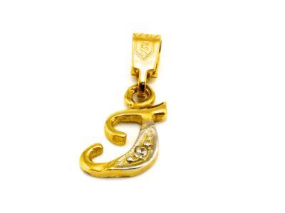 """Arany """"T"""" betű medál"""