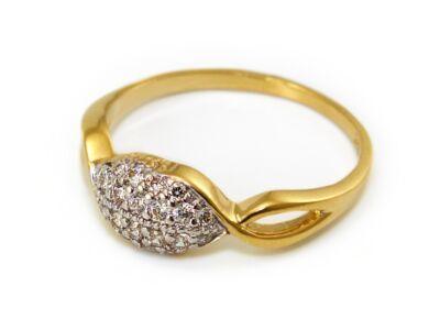 Áttört köves női arany gyűrű