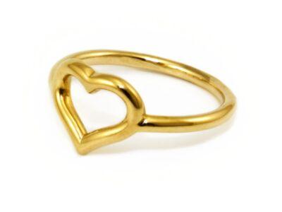 Szives arany gyűrű