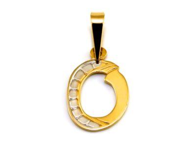 """Arany """"O"""" betű medál"""
