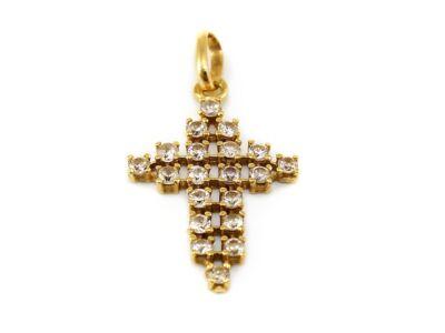 Köves arany kereszt medál