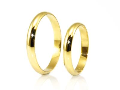 Fényes arany karikagyűrű