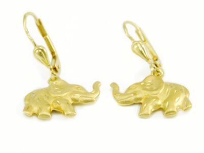 Elefántos lógós arany fülbevaló