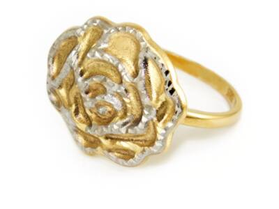 Bicolor rózsás arany gyűrű