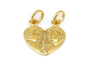 Törhető szív arany medál