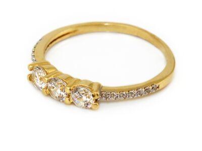 Köves női arany eljegyzési gyűrű
