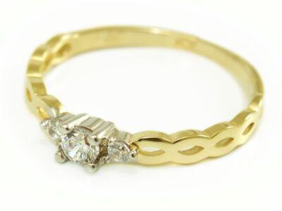 Bicolor köves arany eljegyzési gyűrű