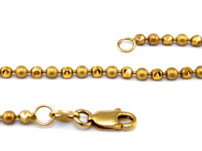 Bogyós arany nyaklánc