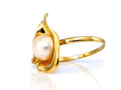 Gyöngyös női arany gyűrű