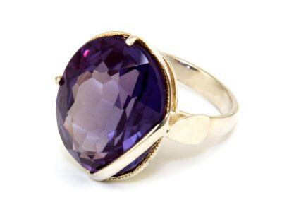 Lila köves női ezüst gyűrű