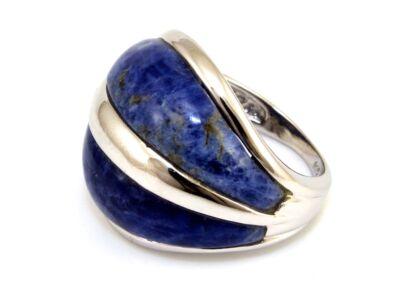 Lapis lazuli női ezüst gyűrű