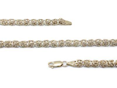 Szögletes ezüst király nyaklánc