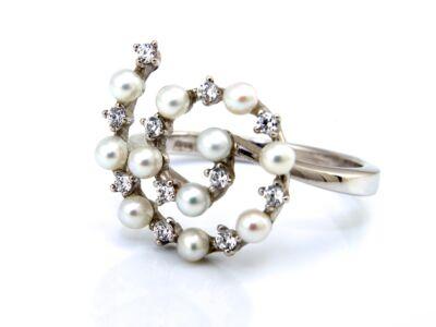 Köves fehérarany női gyűrű