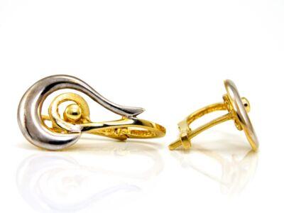 Bicolor arany fülbevaló