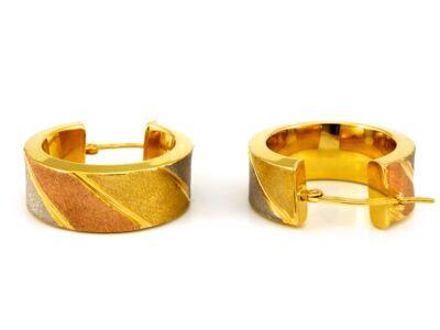 Tricolor arany karika fülbevaló