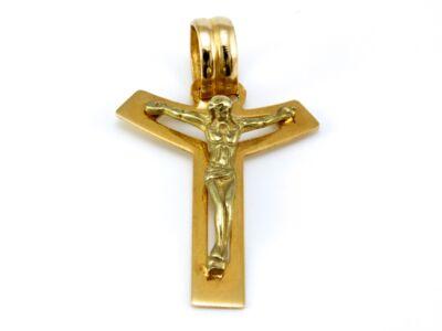 Különleges arany feszület medál