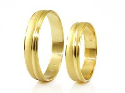 Matt és vésett arany karikagyűrű