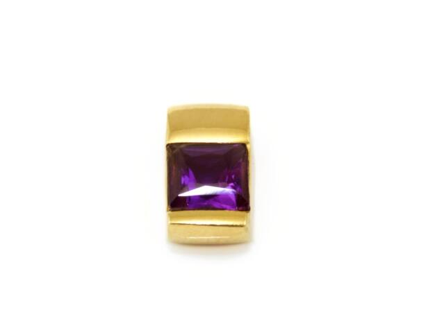 Lila köves futó arany medál