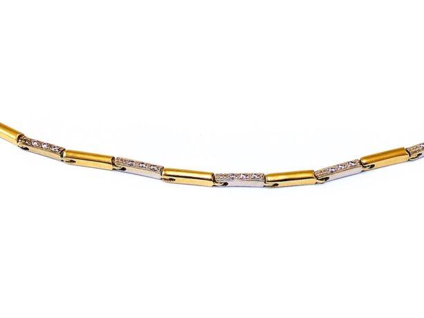 Köves bicolor arany nyakék