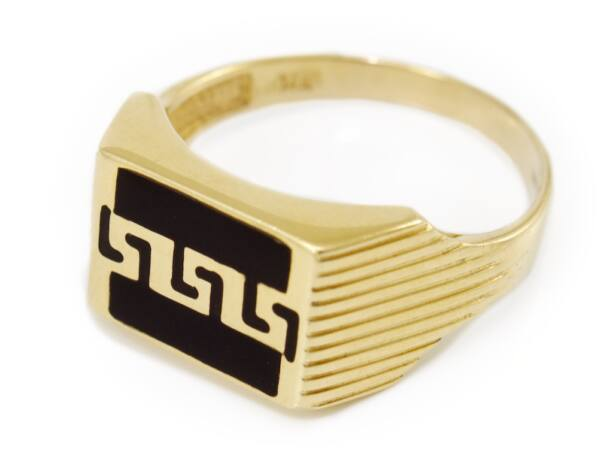 Fekete betétes arany pecsétgyűrű