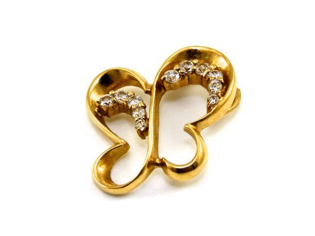 Köves pillangó arany medál