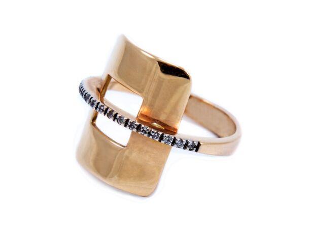 Rozé arany cirkónia köves gyűrű