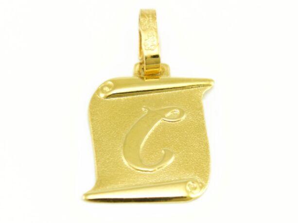 """Arany """"C"""" betű medál"""