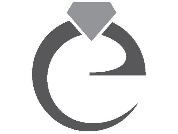 Fényes és matt, köves fehérarany gyűrű
